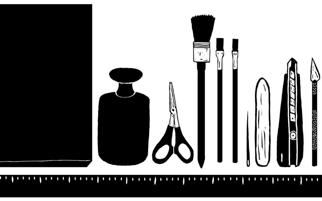 Die 8 wichtigsten Werkzeuge beim Buchbinden