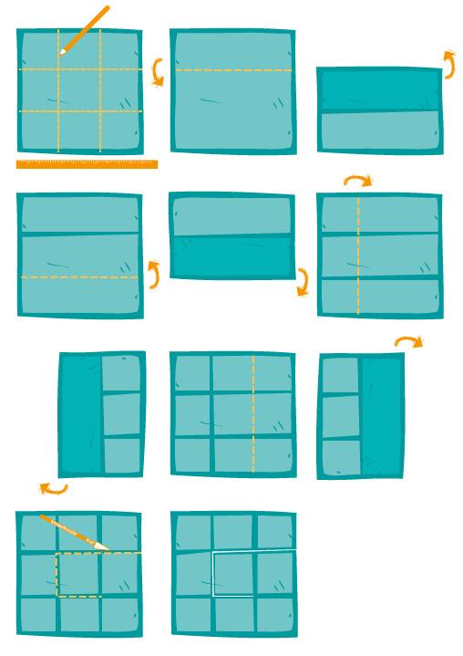 Anleitung fürs Faltbuch: T-Cut