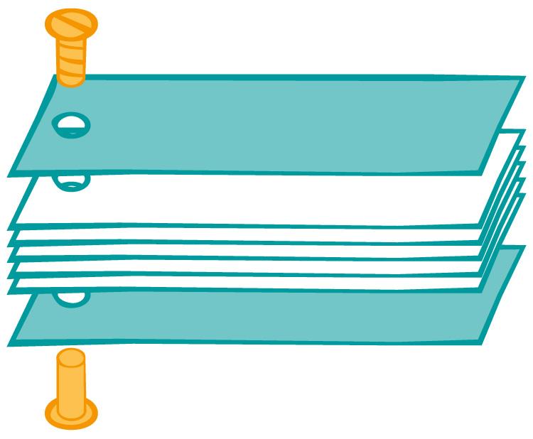 Illustration: Aufbau von einer Schrauben Bindung