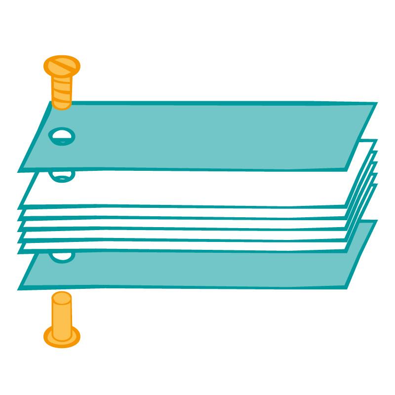 Dummy Einblattbuch / Faltbuch